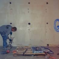 הכנות לניסור קיר בטון עבה