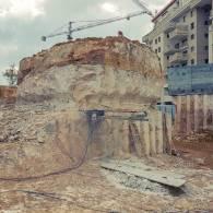 חיתוך אבן בקוטר 9 מטרים