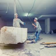 ניסור בטון במרכז - ניסור עם כבל יהלום