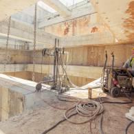 ניסור בטון בכבל יהלום עבור רכבת הקלה
