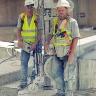 ניסור קורות בטון עם כבל יהלום