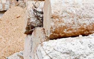אבנים לאחר ניסור